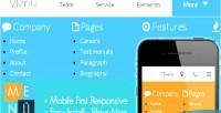 Mobile menu menu responsive first