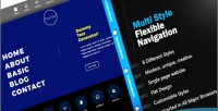 Multi flexnav menu navigation style