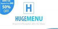Multipurpose huge menu navigation responsive