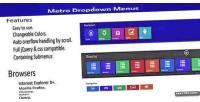 Navigation metro menu