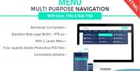 Navigation multipurpose menu