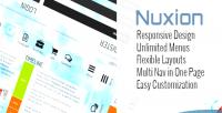 Nuxion jquery responsive ux bar menu navigation