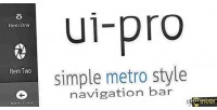 Ui pro simple metro bar navigation style