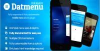 Responsive datmenu plugin jquery menu