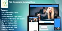 Responsive flat bootstrap menu