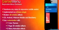 Responsive geniemenu menu generator