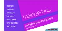 Responsive materamenu menu vertical material