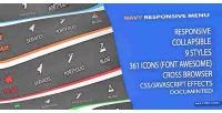 Responsive navy menu