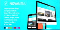 Responsive novamenu navigation footer mega