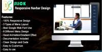 Responsive slick navbar design
