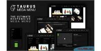 Responsive taurusmenu mega menu