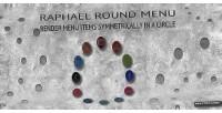 Round raphael menu