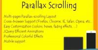 Scrolling parallax