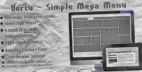 Simple vertu mega menu