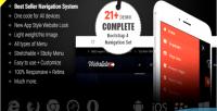 Slide web bootstrap responsive 4 menu mega