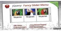 Slider fancy menu