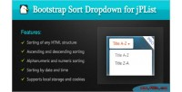 Sort bootstrap dropdown library jplist for
