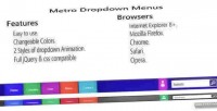 Style metro dropdown menus
