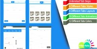 Tech hi tabs design effective animated and