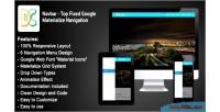 Top navbar fixed navigation materialize google