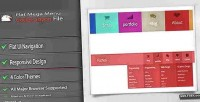 Ui flat menu mega navigation