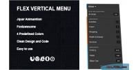 Vertical flex menu