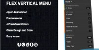 Vertical flex menu