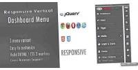 Vertical responsive dashboard menu