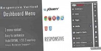 Vertical responsive dashboard menu
