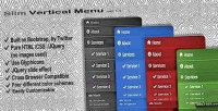 Vertical slim menu