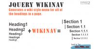 Wikinav jquery