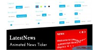 Animated latestnews news ticker