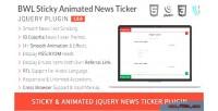 Bwl sticky animated news plugin jquery ticker