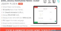 Bwl sticky animated news plugin jquery ticker
