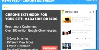Feed news chrome extension