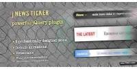Jquery jnewsticker news ticker