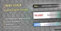Jquery jnewsticker news ticker