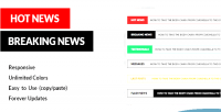 News breaking animations news flash