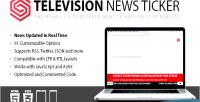 News television ticker