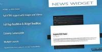 Widget news jquery plugin