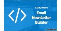 Email bal newsletter version jquery builder