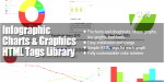 Infographic charts & graphics library tags html