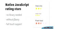 Javascript native rating stars