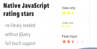 Javascript native rating stars