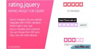 Rating jquery plugin