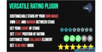 Star versatile rating plugin