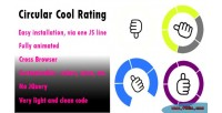 The circular rating cool rating animated attractive