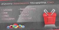 Interactive jquery shopping cart