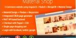 Shop material designed shopping angularjs using cart shop