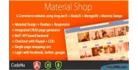 Shop material designed shopping angularjs using cart shop